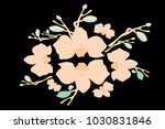 abstract orchid pattern. gentle ... | Shutterstock .eps vector #1030831846