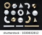 set of 3d render realistic... | Shutterstock . vector #1030832812