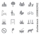 park and outdoor icons. gray... | Shutterstock .eps vector #1030832902