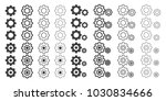 gray setting icon. setting icon ... | Shutterstock .eps vector #1030834666