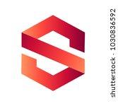 letter s hexagon logo | Shutterstock .eps vector #1030836592