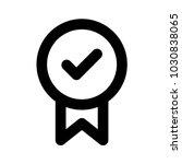 medal tick award  | Shutterstock .eps vector #1030838065