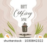 hand drawn vector abstract... | Shutterstock .eps vector #1030842322