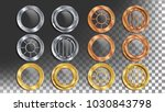 portholes set vector. round... | Shutterstock .eps vector #1030843798