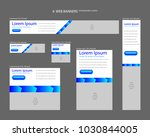 six web banners standard sizes... | Shutterstock .eps vector #1030844005