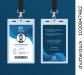 corporate id card design... | Shutterstock .eps vector #1030847482