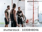 sportspeople standing at gym...   Shutterstock . vector #1030848046