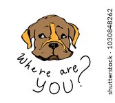 i miss you color vector... | Shutterstock .eps vector #1030848262
