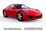 red porsche 911 three... | Shutterstock . vector #1030851346