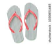 Stripe Flip Flops Isolated On...