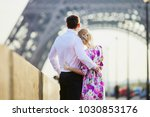 romantic couple together in... | Shutterstock . vector #1030853176