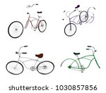 bikes at a parking place ... | Shutterstock . vector #1030857856