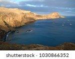rocky hills on madeira | Shutterstock . vector #1030866352