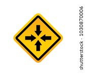 road signs vector | Shutterstock .eps vector #1030870006