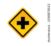 road signs vector | Shutterstock .eps vector #1030870012