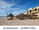 playa paraiso  mexico  ... | Shutterstock . vector #1030871962