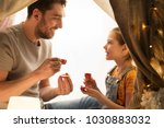 family  hygge and people... | Shutterstock . vector #1030883032