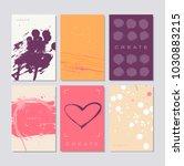 flyer template or invitation... | Shutterstock .eps vector #1030883215