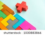 different colorful shapes...   Shutterstock . vector #1030883866