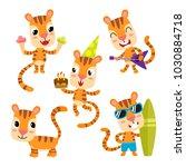 vector set of cartoon funny...   Shutterstock .eps vector #1030884718