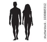 man and woman body silhouettes. ... | Shutterstock .eps vector #1030885312