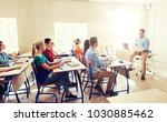 education  school and people... | Shutterstock . vector #1030885462
