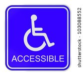 Render Of Blue Disabled Icon On ...