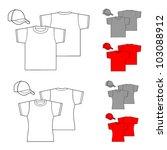 t shirts for men and women. | Shutterstock .eps vector #103088912