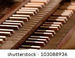 Closeup Of Keys Of A Pipe Orga...