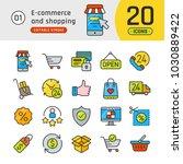 online shopping and e commerce... | Shutterstock .eps vector #1030889422