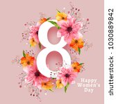 happy women's day celebration... | Shutterstock .eps vector #1030889842