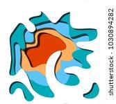creative geometric background... | Shutterstock .eps vector #1030894282