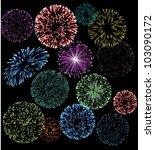 vector fireworks | Shutterstock .eps vector #103090172