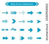 blue arrow icon set