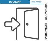 doorway icon. professional ... | Shutterstock .eps vector #1030904386