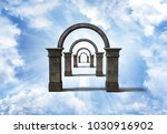 arch way into sky | Shutterstock . vector #1030916902