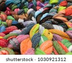 close up view of colorful... | Shutterstock . vector #1030921312
