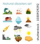vector illustration set of... | Shutterstock .eps vector #1030929292