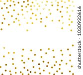 gold glitter background polka... | Shutterstock .eps vector #1030932616