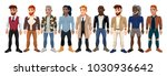 varied male fashion avatar.... | Shutterstock .eps vector #1030936642