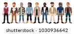 varied male fashion avatar.... | Shutterstock .eps vector #1030936642