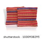colorful cushions isolated on... | Shutterstock . vector #1030938295