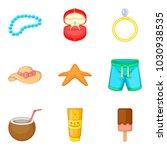 sweetheart icons set. cartoon... | Shutterstock .eps vector #1030938535