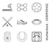 sporting icons set. outline set ... | Shutterstock .eps vector #1030939432