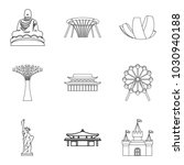 relation icons set. outline set ... | Shutterstock .eps vector #1030940188