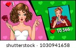 girls in the style of pop art.... | Shutterstock .eps vector #1030941658