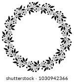 black floral border for wedding ... | Shutterstock .eps vector #1030942366