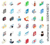 exercise book icons set.... | Shutterstock .eps vector #1030943872