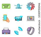 setting icons set. cartoon set...