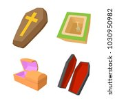 coffin icon set. cartoon set of ...   Shutterstock .eps vector #1030950982